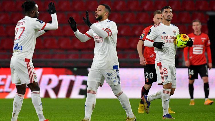 Memphis Depay a remis l'OL sur le droit chemin samedi soir contre Rennes (LOIC VENANCE / AFP)