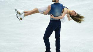 Gabriella Papadakis et Guillaume Cizeron lors des championnats d'Europe de patinage artistique, à Ostrava (République tchèque), le 28 janvier 2017. (ALEXANDER VILF / SPUTNIK / AFP)