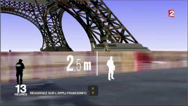 Terrorisme : la tour Eiffel bientôt emmurée ?