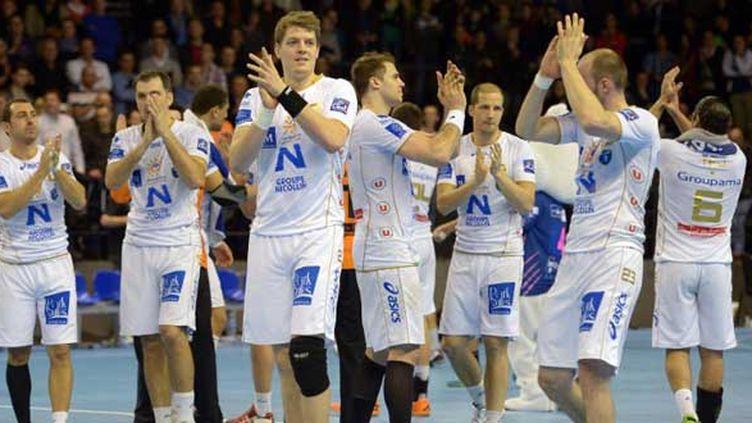 La joie des joueurs de Montpellier