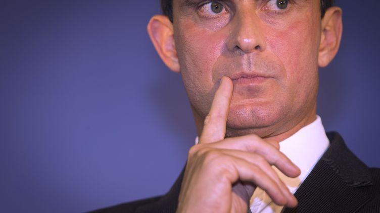 Le ministre de l'Intérieur Manuel Valls, le 10 septembre 2013 à Paris. (JOEL SAGET / AFP)
