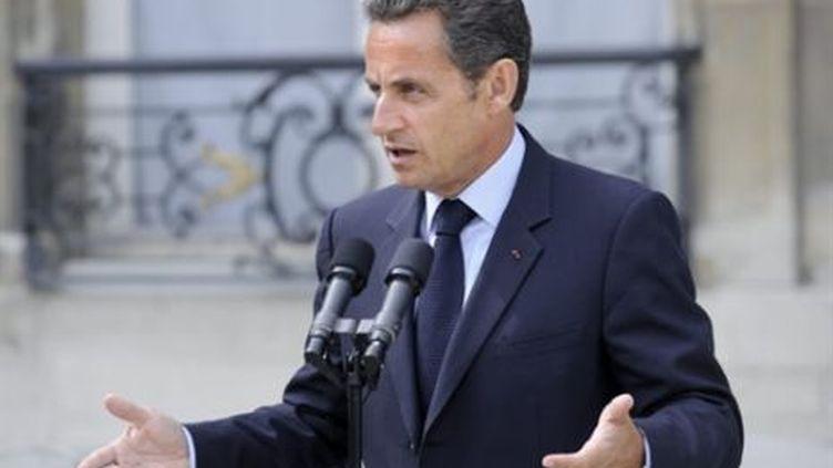 Nicolas Sarkozy (AFP PHOTO STEPHANE DE SAKUTIN)