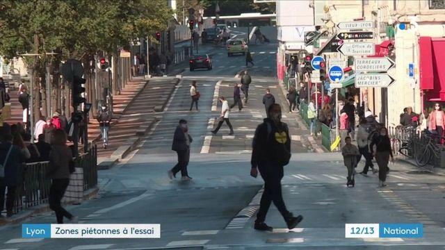 Lyon : des zones piétonnes à l'essai