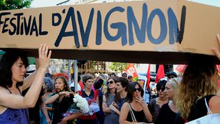 Manifestation d'intermittents à Marseille le 26 juin 2014  ( Valérie Vrel / PHOTOPQR/ LA PROVENCE)