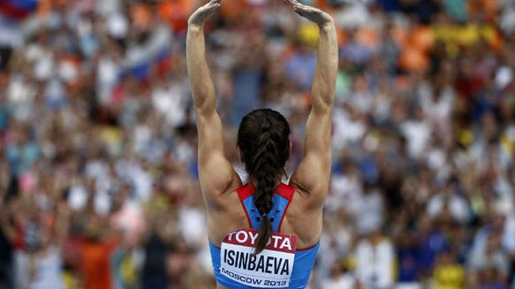 La perchiste russe Yelena Isinbaeva