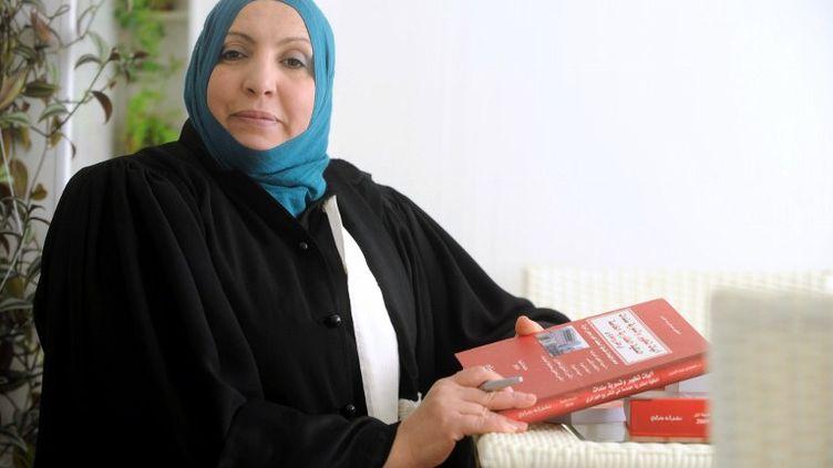 L'avocate du père de Mohamed Merah,Zahia Mokhtari, à Alger (Algérie), le 29 mars 2012. (FAROUK BATICHE / AFP)