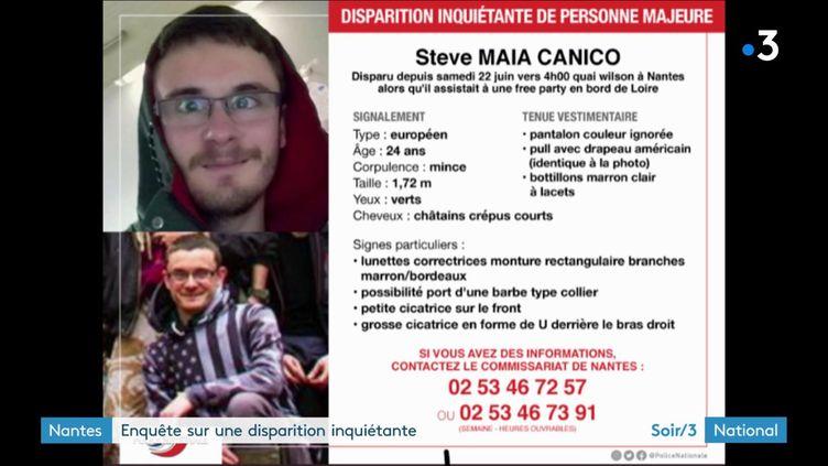 Steve Maia Caniço a disparu, à Nantes, le 22 juin. (France 3)