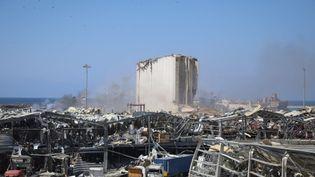 Des bâtiments endommagésà Beyrouth, le 5 août 2020. (HOUSSAM HARIRI / NURPHOTO)