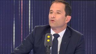 Benoît Hamon était l'invité vendredi 4 mai sur franceinfo. (FRANCEINFO / RADIOFRANCE)