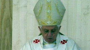 Le pape Benoît XVI. (France3)