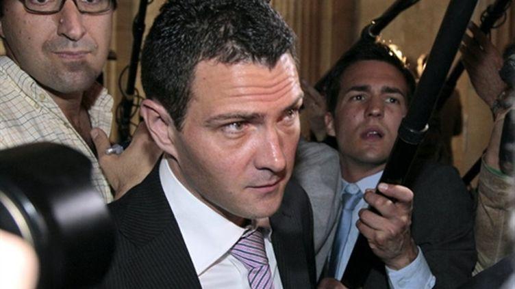Jérome Kerviel, ex-trader à la Société générale, au tribunal de Paris le 08 juin 2010 où il est jugé pour fraude (AFP/JACQUES DEMARTHON)
