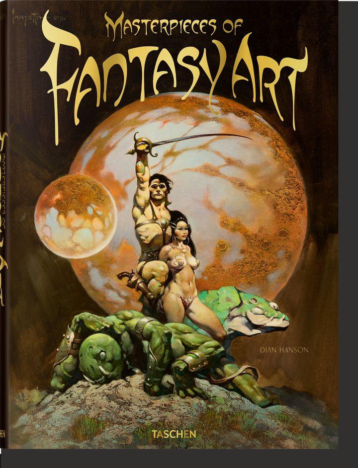 """Première de couverture de""""Masterpieces of Fantasy Art"""" deDian Hanson. (Copyright Tashen / Frank Frazetta)"""