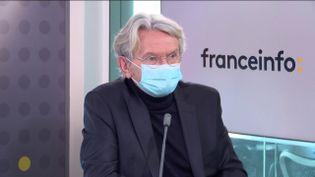 Jean-Claude Mailly, secrétaire général de Force Ouvrière (FO) de 2004 à 2018, le 24 mai 2021 sur franceinfo. (FRANCEINFO / RADIO FRANCE)