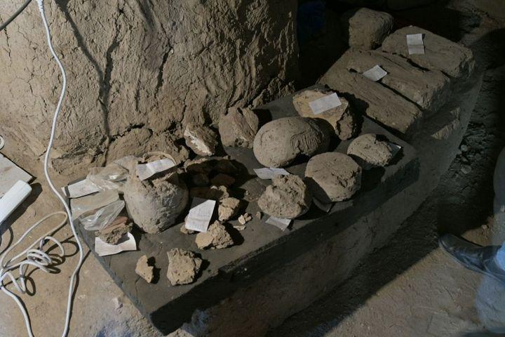 Vestiges culturels mis au jour dans la cité antique égyptienne (8 avril 2021) (CHINE NOUVELLE / SIPA / XINHUA)