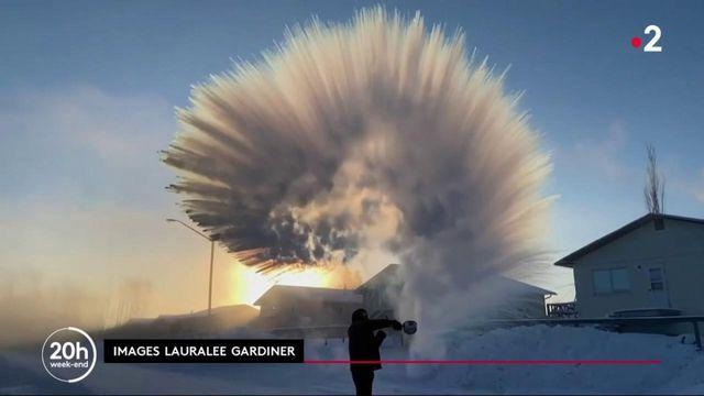 Monde : le froid polaire en images