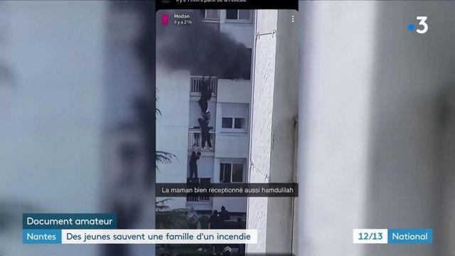 Nantes : des jeunes sauvent une famille d'un incendie