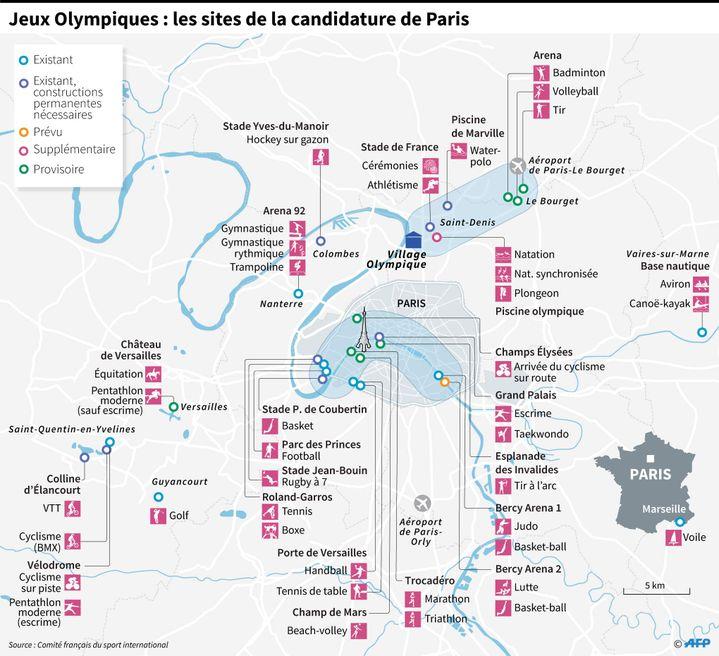 Les sites olympiques de Paris 2024