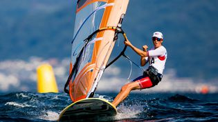Charline Picon lors des Jeux olympiques de Tokyo, le 25 juillet 2021. (AGENCE KMSP / KMSP)