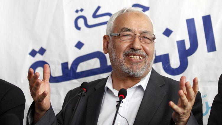Rached Ghannouchi, le dirigeant du parti islamiste Ennahda, le 19 octobre à Tunis. (ZOUBEIR SOUISSI / REUTERS)