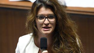 La secrétaire d'Etat à l'Egalité entre les hommes et les femmes, Marlène Schiappa, lors des questions au gouvernement à l'Assemblée nationale, le 24 juillet 2018. (BERTRAND GUAY / AFP)