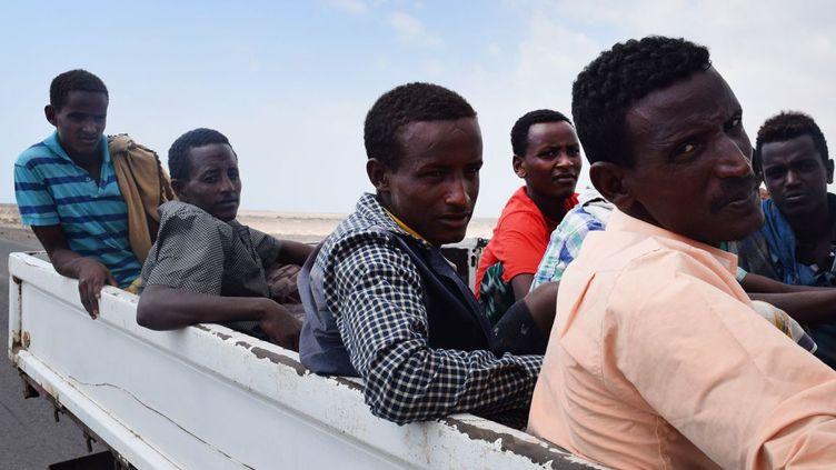 Migrants africains aux mains des forces pro-gouvernementales yéménites soutenues par l'Arabie Saoudite. (AFP PHOTO / SALEH AL-OBEIDI)
