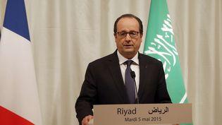 François Hollande à Riyad, capitale de l'Arabie Saoudite, la 5 mai 2015 (CHRISTOPHE ENA / AP / SIPA)