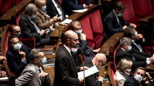 Jean-Noël Barrot à l'Assemblée nationale le 29 septembre 2020. (ARTHUR NICHOLAS ORCHARD / HANS LUCAS)