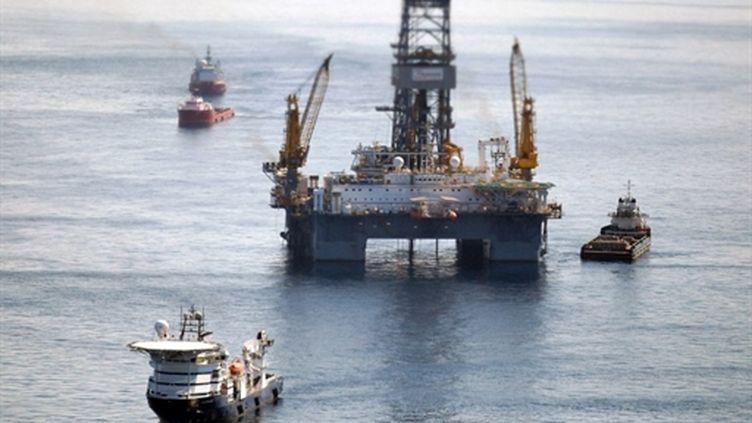 L'explosion de la plateforme Deepwater Horizon est à l'origine de la pire marée noire de l'histoire des Etats-Unis. (AFP - Chris Graythen)