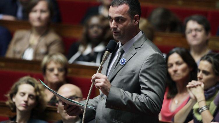 Christophe Blanchet, à l'Assemblée nationale, le 25 octobre 2017. (THOMAS SAMSON / AFP)