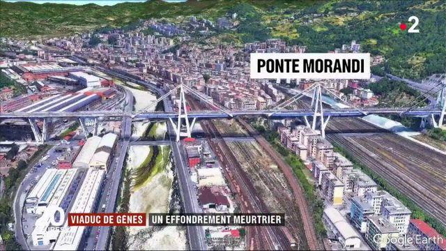 Effondrement d'un pont à Gênes : des chutes de 45 mètres de hauteur