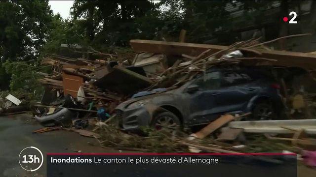 Inondations en Allemagne : l'eau a laissé derrière elles des scènes de chaos à Ahrweiler