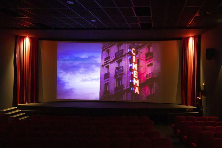 Une salle de cinéma française lors de la réouverture des cinémas en temps de pandémie de Covid-19 en juillet 2020. (SYSPEO/SIPA)