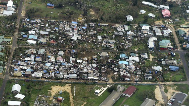 La capitale du Vanuatu, Port-Vila, le 16 mars 2015, après le passage du cyclone Pam. (DAVE HUNT / AP / SIPA)