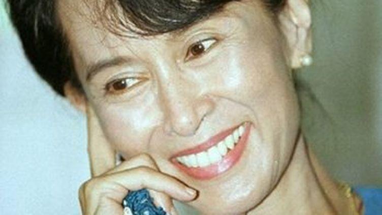 Aung San Suu Kyi, 1996. (© AFP)