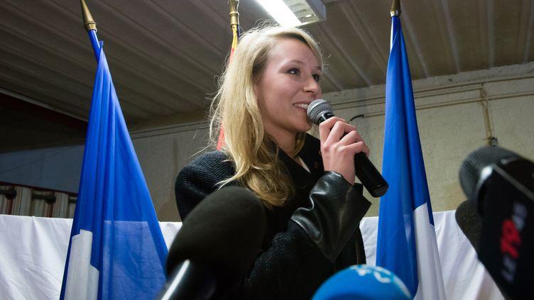 La députée FN Marion Maréchal-Le Pen, le 29 mars 2015 à Carpentras (Vaucluse). (BERTRAND LANGLOIS / AFP)