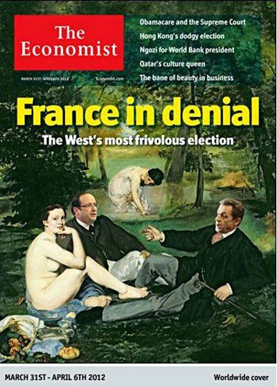 """La une de l'édition du 31 mars 2012 de l'hebdomadaire britannique """"The Economist"""". (THE ECONOMIST)"""