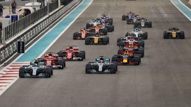 Des enfantsvontaccompagner les pilotes sur les grilles de départ des Grand Prix de Formule 1, ont annoncé lundi 5 février 2018 les propriétaires de la F1. (FLORENT GOODEN / DPPI MEDIA)