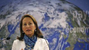 La ministre de l'Ecologie, Ségolène Royal, lors d'un discours à Paris, le 14 janvier 2016. (PATRICK KOVARIK / AFP)