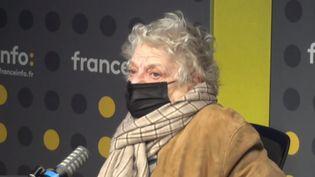 La réalisatrice Josée Dayan à franceinfo le 22 mars 2021 (FRANCEINFO / RADIO FRANCE)