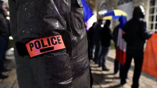 Une manifestations de policiers devant la mairie de Nancy (Meurthe-et-Moselle), le 23 octobre 2016. (MAXPPP)