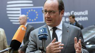 François Hollande à son arrivée au Conseil européen à Bruxelles, le 15 octobre 2015. (THIERRY CHARLIER / AFP)