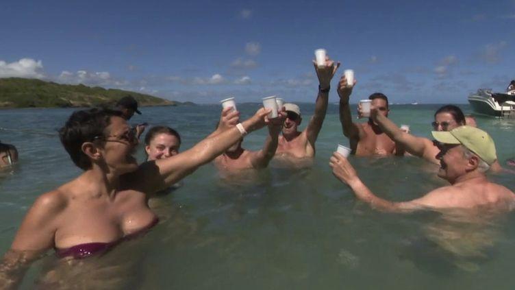Les Antilles sont plébiscitées par les touristes pour les vacances de fin d'année. (CAPTURE ECRAN FRANCE 2)
