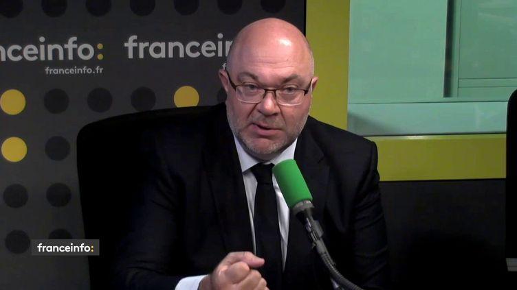 Le ministre de l'Agriculture Stéphane Travert, lundi 11 juin sur franceinfo (FRANCEINFO / RADIOFRANCE)
