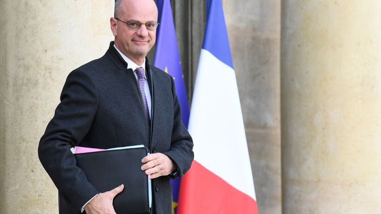 Le ministre de l'Education nationale Jean-Michel Blanquer à l'Elysée à Paris, le 24 janvier 2020. (ALAIN JOCARD / AFP)