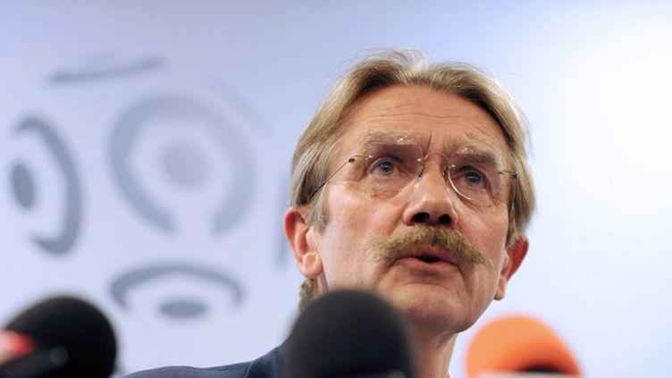 Frédéric Thiriez, président de la Ligue française, mais aussi président du syndicat des ligues de football européennes professionnelles.
