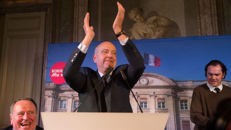 Le maire UMP de Bordeaux (Gironde), Alain Juppé, après sa réélection, le 23 mars 2014. (SERGE POUZET / SIPA)