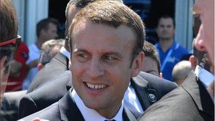 Emmanuel Macron, au Salon du Bourget, le 19 juin 2017. (JEAN-CHRISTOPHE BOURDILLAT / RADIO FRANCE)