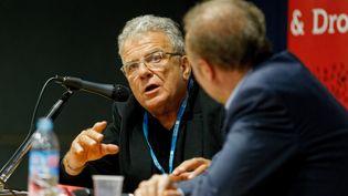 Conférence d'Olivier Duhamel sur les institutions et la Présidentielle au Salon des livres et du droit en 2017. (DOMINIQUE LERICHE / MAXPPP)