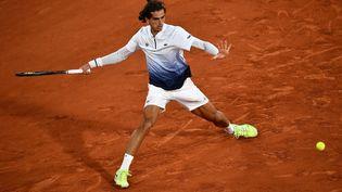 Pierre-Hugues Herbert s'est incliné lors de son premier tour au Masters 1000 de Madrid, le 4 mai 2021. (ANNE-CHRISTINE POUJOULAT / AFP)