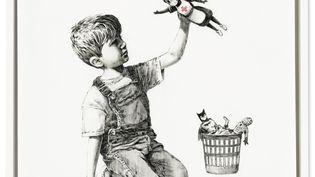 """""""Gamechanger"""", une œuvre de Banksy mise en vente aux enchères mardi 23 mars 2021 à Londres (Royaume-Uni), au profit du NHS (service public de la santé) (CHRISTIE'S IMAGES LTD. 2021)"""